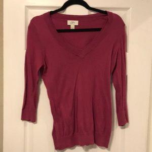 Ann Taylor LOFT Berry Sweater (S)
